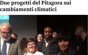 """Il preside e la dirigenza della Scuola Pitagora ritirano il premio a Cagliari per il concorso """"Graziano Deiana 2"""""""