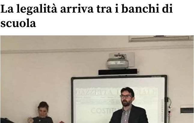 La Nuova Sardegna – La legalità arriva tra i banchi di scuola