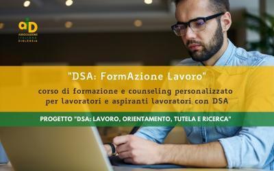 DSA: FormAzione Lavoro – Corso per lavoratori e aspiranti lavoratori con DSA